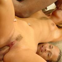 Enthusiastic blonde romping with studs