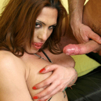 Latino shemale Carla gets her ass fucked hard by Axel