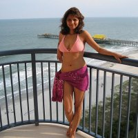pakistani girl on beach in bikini 1