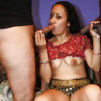 Wild Indian Ishu goes for a kinky gangbang session and got all of her holes drilled with hard dongs