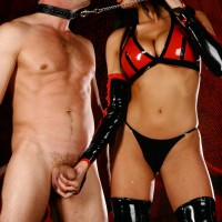 Mistress Anissa Kate takes her slave by the balls and puts him to work worshipping her ass.