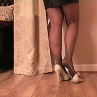 As a sexual lady Jackie causes men to juice up and go hard every time they see her! This is especially so for men who have a shoe fetish as they can't take their eyes away from her high heels, until she makes them cum in their pants