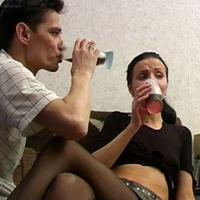 Girl gets drunk and sucks cock